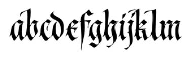 Cal Fraktur Modern Regular Font LOWERCASE