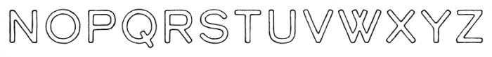 Calder Dark Outline Font LOWERCASE