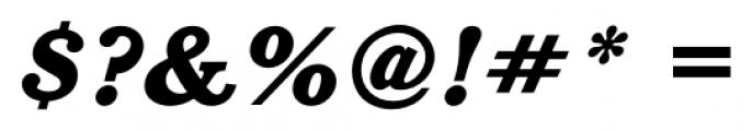 Calgary Heavy Italic Font OTHER CHARS