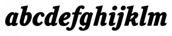 Calgary Heavy Italic Font LOWERCASE