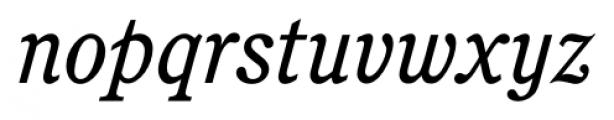 Calgary Italic Font LOWERCASE