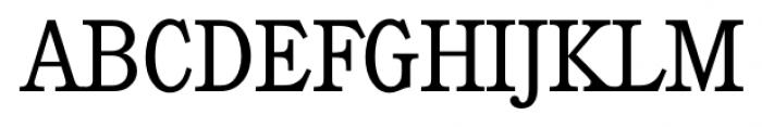 Calgary Serial Light Font UPPERCASE
