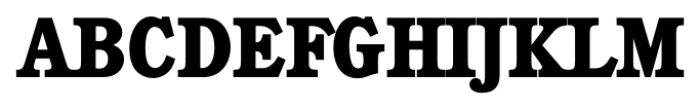 Calgary Serial Xbold Font UPPERCASE
