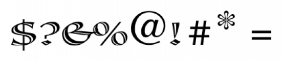 Calligraphica  Regular Font OTHER CHARS