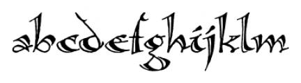 Calligraphica  Regular Font LOWERCASE