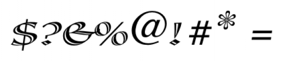 Calligraphica  SX Italic Font OTHER CHARS