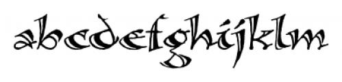 Calligraphica  SX Regular Font LOWERCASE