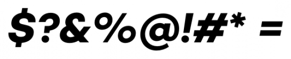 Campton Bold Italic Font OTHER CHARS