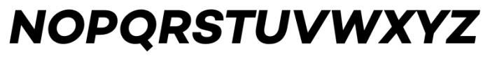 Campton Bold Italic Font UPPERCASE