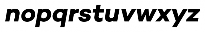 Campton Bold Italic Font LOWERCASE
