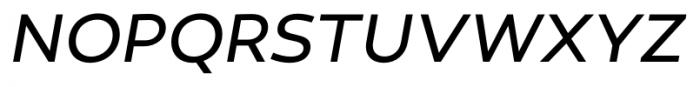 Canaro Book Italic Book Italic Font UPPERCASE