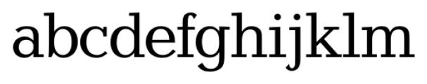 Candela Regular Font LOWERCASE