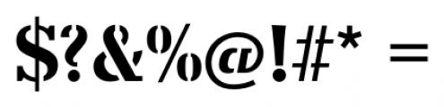 Candela Stencil Font OTHER CHARS