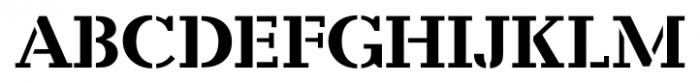 Candela Stencil Font UPPERCASE