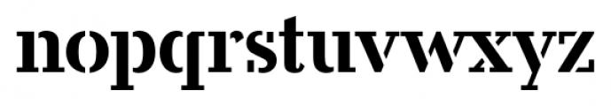 Candela Stencil Font LOWERCASE