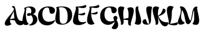 Candelivers Regular Font UPPERCASE