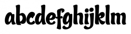 Candy Script Regular Font LOWERCASE