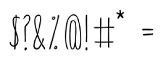 Canoe Regular Font OTHER CHARS