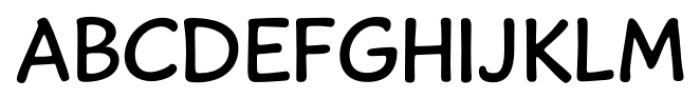 Caper Comic Regular Font LOWERCASE