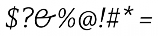 Capitolina Light Italic Font OTHER CHARS