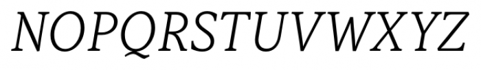 Capitolina Light Italic Font UPPERCASE