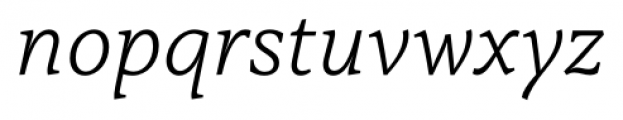 Capitolina Light Italic Font LOWERCASE