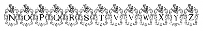 Capitular Heraldica Regular Font UPPERCASE