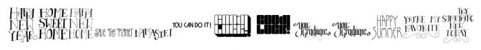 CardOMat Messages Font LOWERCASE