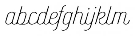 Catfish Light Font LOWERCASE