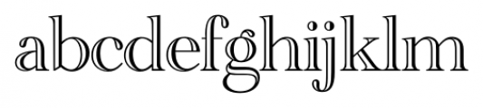 Cathedral Open Regular Font LOWERCASE