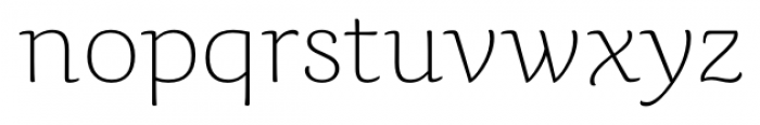 Caturrita Thin Font LOWERCASE