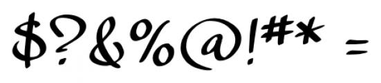 calligraPhillip Regular Font OTHER CHARS