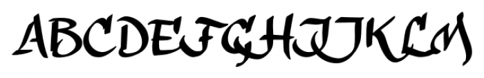 calligraPhillip Regular Font UPPERCASE