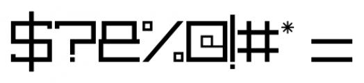 capital regular Font OTHER CHARS