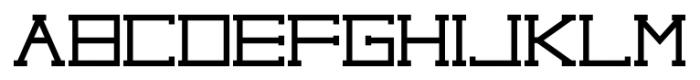 capital regular Font LOWERCASE