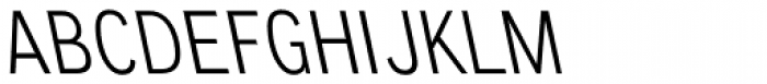 CA Normal Left Light Font UPPERCASE