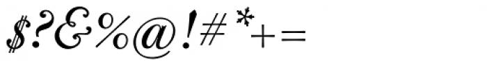 CAL Bodoni Casale Quasi Lite Italic Font OTHER CHARS