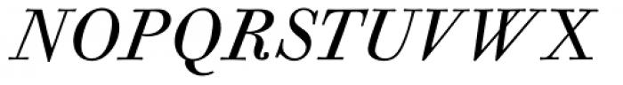 CAL Bodoni Casale Quasi Lite Italic Font UPPERCASE