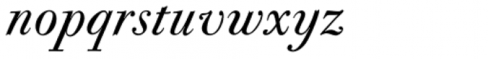 CAL Bodoni Casale Quasi Lite Italic Font LOWERCASE