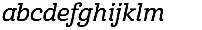 Cabrito Demi Italic Font LOWERCASE