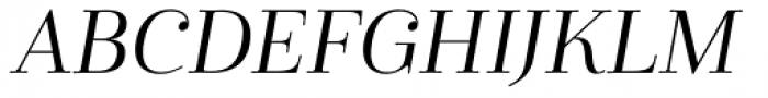 Cabrito Didone Ext Regular Italic Font UPPERCASE