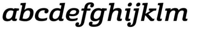 Cabrito Ext Bold Italic Font LOWERCASE