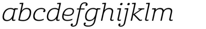 Cabrito Ext Book Italic Font LOWERCASE
