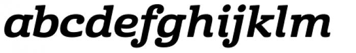Cabrito Ext ExtraBold Italic Font LOWERCASE