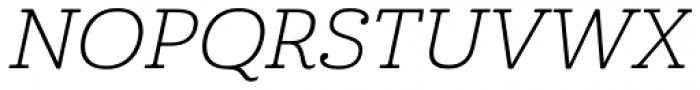 Cabrito Ext Light Italic Font UPPERCASE