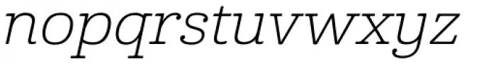 Cabrito Ext Light Italic Font LOWERCASE