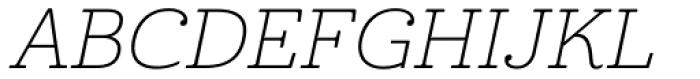 Cabrito Ext Thin Italic Font UPPERCASE