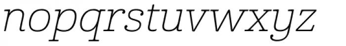 Cabrito Ext Thin Italic Font LOWERCASE