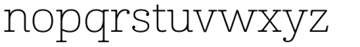 Cabrito Ext Thin Font LOWERCASE