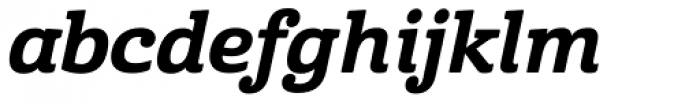Cabrito ExtraBoId Italic Font LOWERCASE
